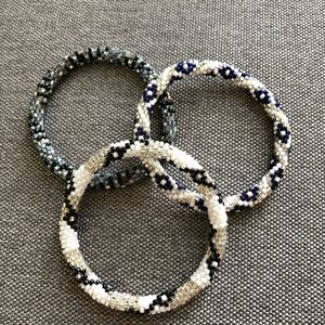 Lily and Laura beaded bracelets